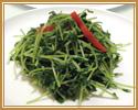 5. 豆苗の塩味炒め